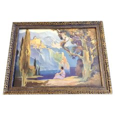 Vintage Maxfield Parrish Framed Print Castle Dreams