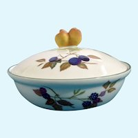 Evesham Vale Royal Worcester Porcelain Covered Round Casserole Baking Dish