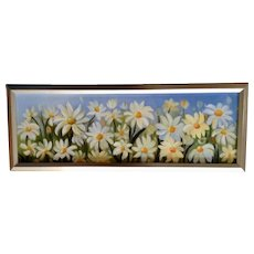 Debbie Jaggers Delightful Daisies Floral Oil Painting on Canvas Signed by Artist