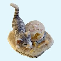Lowell Davis Happy Birthday My Sweet Cat Figurine RFD America