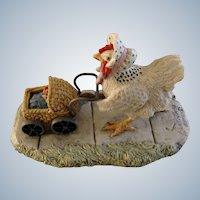 Lowell Davis Chicken with Baby Carriage, Little Critters Figurine Schmid / Border Fine Arts The World Of The Little Critters Collection 225-516 Double Yolker Retired