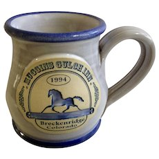 1994 Muggins Gulch Inn Breckenridge, Colorado Hotel Pottery Earthenware / Stoneware Pottery Souvenir Mug