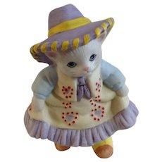 Schmid Kitty Cucumber Cat Baby Muffin B. Shackman Sri Lanka 1995 Porcelain Figurine