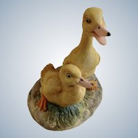 Lowell Davis RFD America Figurine Schmid / Border Fine Arts  225-286 Brother's, Retired Pair of Ducks