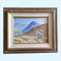 Anthony (Tony) P. Menditto (1922-2007) Palm Springs Desert Landscape Oil Painting