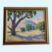 Anthony (Tony) P. Menditto (1922-2007) Vista Ranch California Landscape Oil Painting