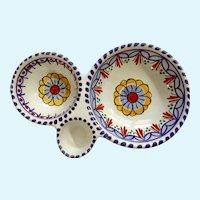 Ceramica Puente Spain Ceramic 3 Section Condiment Bowl
