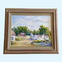 Anthony (Tony) P. Menditto (1922-2007) House Plein Air Landscape Oil Painting