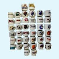 40 Miniature Hockey Football Baseball Sports Emblem Cups Group