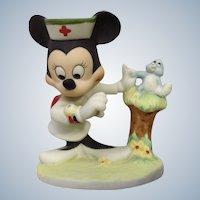 Vintage Minnie Mouse Nurse Figurine Walt Disney Productions Bisque