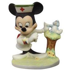 Vintage Walt Disney Productions Minnie Mouse Nurse Bisque Figurine