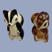 Burke Robert Simmons California Pottery Skunk Pewey & Squirrel Nutsy Figurines