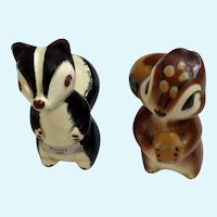 Burke Robert Simmons California Pottery Skunk Pewey & Squirrel Nutsy Figurines