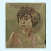 Alvin Barta (1902-1978), Women Portraits Oil Paintings Rough Cut Canvas Only