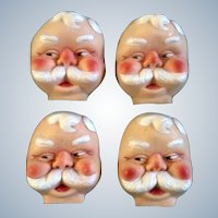 Santa Claus Rubber Face Doll Accessories St. Nicholas Christmas 1966 Vintage Set of 4