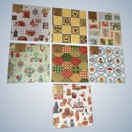 7 Vintage Red Farm Studio Gift Wrap Happy Wraps 14 Sheets Sealed Packs, 20 inches x 29 inches
