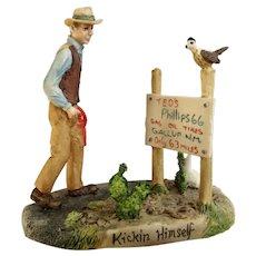 Lowell Davis  Kickin' Himself Route 66 Figurine Schmid / Border Fine Arts 225-622 Retired HTF