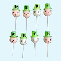 Mid-Century Saint Patrick's Day Cupcake Picks Cake Toppers