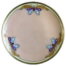 Vintage Seito Studio Hand Painted Butterfly Art Hand Painted Plate Made in Japan