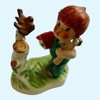 Goebel Springtime Redheaded Boy Porcelain Figurine W Germany