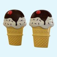Godiva Chocolates Ice Cream Cone Magnets