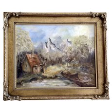 Avis Roles, Wilderness Landscape Oil Painting on Canvas Signed by Artist