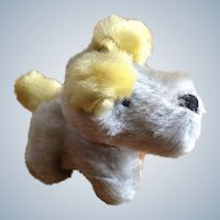 Adorable Mid-Century Stuffed Plush Puppy Dog Toy Animal