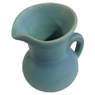 Van Briggle Pottery Original Small Creamer Pitcher Turquoise Blue Matte Glaze 1950's Mark