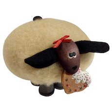 I Love Ewe, Valentine Sheep Eating A Decorated Heart Cookie Homemade Hand Craft