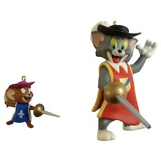 Tom and Jerry Two Mouseketeers Swashbucklers Cartoon Characters Keepsake Hallmark Tracy Larsen Ornament