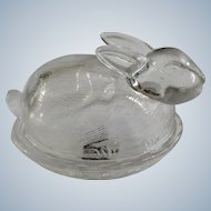 Circleware Glass Easter Bunny Rabbit Candy Dish Holder