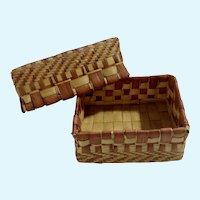 Chicago World's Fair 1893 Small Souvenir Hand Made Basket
