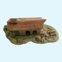 Lowell Davis Fox Fire Farm Garden Wood Shed Figurine Schmid