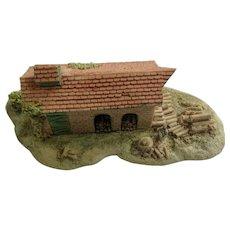 Lowell Davis Fox Fire Farm Figurine Schmid / Border Fine Arts 225-359 Garden & Wood Shed, Retired
