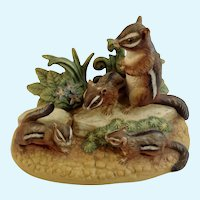 Royal Windsor Autumn Chipmunk Southern Forest Families Porcelain Figurine