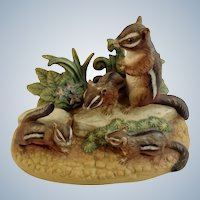 1984 Royal Windsor, Chipmunk Southern Forest Families Porcelain Figurine Crafted in Japan Retired