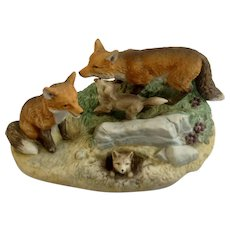 1984 Royal Windsor, Red Fox Southern Forest Families Porcelain Figurine Crafted in Japan Retired