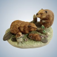 1984 Royal Windsor, Beaver Southern Forest Families Porcelain Figurine Crafted in Japan Retired