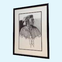 Linda Roane, Native American Indian Pencil Portrait