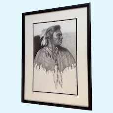 Linda Roane, Native American Indian Pencil Portrait