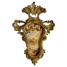 19th Century Elaborate Gold Baroque Style Frame