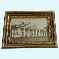Mt Vernon George and Martha Washington Historic Mansion Hand Tinted Photo