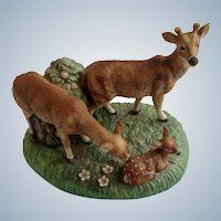 White-tailed Deer Figurine 1984 Royal Windsor, Southern Forest Families Porcelain Crafted in Japan Retired