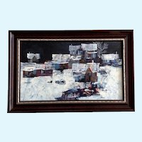 Mike Fallier, Urban Street Scene Oil Painting