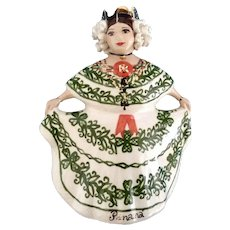 Lady in Authentic Dress Ceramic Figurine Made Exclusive in Hora, Panama