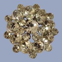 Brilliant Bright Sparkle Faux Diamond Cluster Rhinestone Brooch Pin