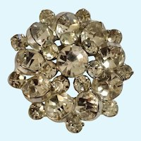 Brilliant Bright Sparkle Faux Diamond Cluster Rhinestone Brooch Pin