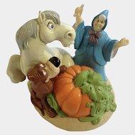 Cinderella Fairy Godmother & Bruno Lil Classics Disney Store PVC Figurine Discontinued