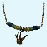 """Dove Chain Necklace Coldwater Creek  Vintage Bronze Colored 21"""" Long"""