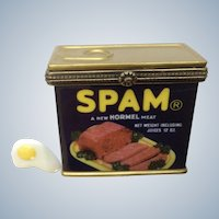 Spam Hinged Trinket Box PHB Collection Retrospect Miniature Porcelain Hormel Foods Meat Can Famous Brands Classics by Midwest of Cannon Falls Discontinued